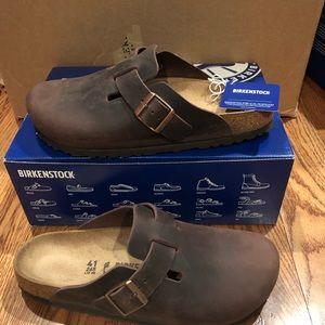 Birkenstock Boston brown leather 10 narrow new